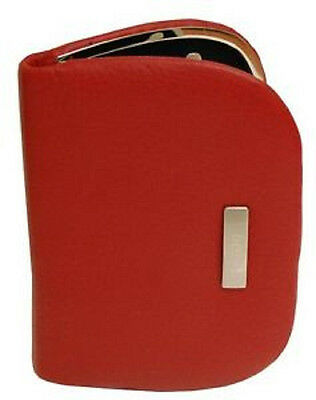 New Buxton DOPP 6 pc Manicure Set Travel Kit RED Leather Cas Nice gift  Women