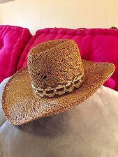 Fantastic Vintage Bailey's U-Roll It Cowgirl Hat/Basket Weave/Buckle/Sz 7/Nice!