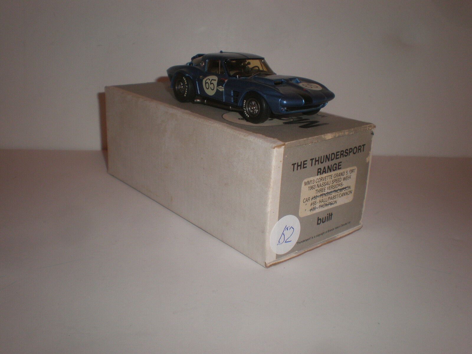 1 43 MM13 Corvette Grand Sport 1963 Nassau Speed Woche Car  65 Marsh Models