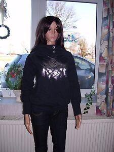 Adidas-Damen-Hoody-Hoodie-schwarz-Trefoil-Kaputzenpullover-Kaputze-S-M-XL-neu