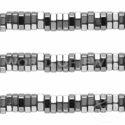 Ematite Disco Esagonale 02x01mm Naturale Filo Pietre Dure Semipreziose Perlina