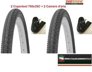 2-Copertoni-Nero-700x35C-2-Camere-d-039-aria-per-Bici-28-034-City-Bike-GOMMA-CICLO-2