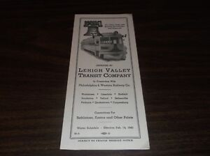 FEBRUARY-1943-LEHIGH-VALLEY-TRANSIT-SYSTEM-PUBLIC-TIMETABLE-SCARCE-WWII-ISSUE