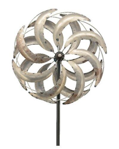 XXL Windrad NEO ArtFerro Windspiel Gartenstecker Gartendeko Metall H216 Ø51