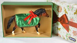 BREYER-TRADITIONAL-A-PONY-FOR-CHRISTMAS-SR-BAY-PINTO-HALFLINGER-MODEL-HORSE-GIFT