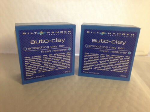 2 X Bilt Hamber Auto Arcilla regular autoclay Detalle coche clay Bar 200g