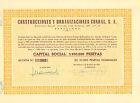 RARO, Construcciones y Urbanizaciones Condal SA, accion, Barcelona,1964 (156)