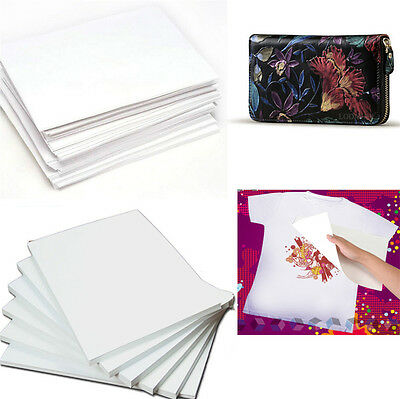 10X A4 Iron-On T-Shirt Bag DIY Inkjet Print Transfer Heat Paper For Fabric Cloth