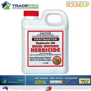 Glyphosate Weed Kill 360gL 1LTR PRO Grade Herbicide Killer Spray 1L Eqv/ Roundup