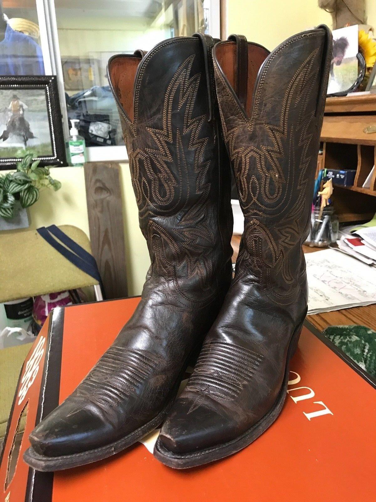 tutto in alta qualità e prezzo basso Lucchese donna donna donna nero Burnished Ranch Western stivali 8.5B  marchi di stilisti economici