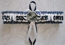 Dallas Cowboys Fabric PLUS SIZE Wedding Garter Toss Prom Football Charm Navy