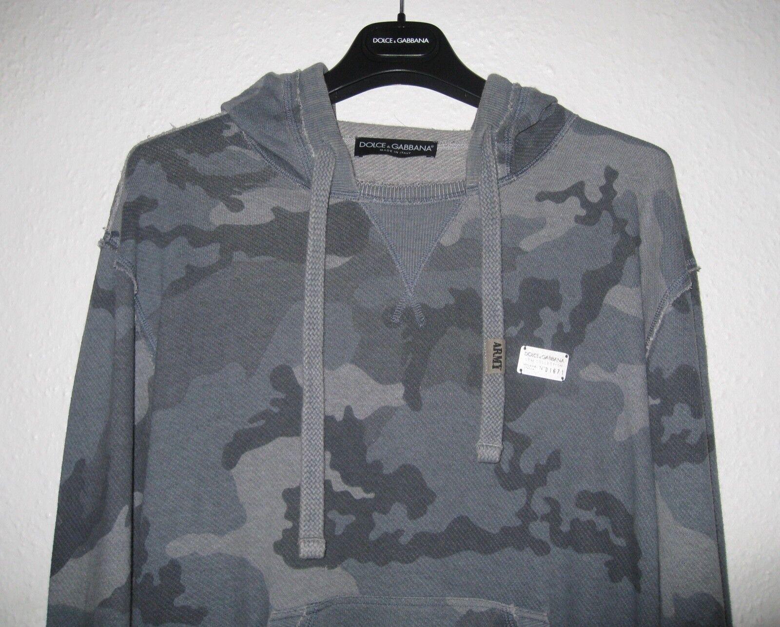 DOLCE & GABBANA Camouflage PIASTRA Felpa con cappuccio Taglia 48 48 48 Media 5c6428