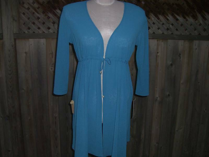 women Resort Open-Front Bold bluee Coverup Size Small