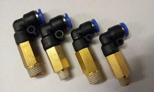 Pneumatique embrayage 1//8 à 6 mm tuyau long L pièce 90 degrés etspll 6-1//8