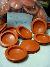 """2 Red RUBBER STOPPER for Piggy Banks - FITS 1-3/4"""" HOLE - BUY ALL YOU NEED!"""
