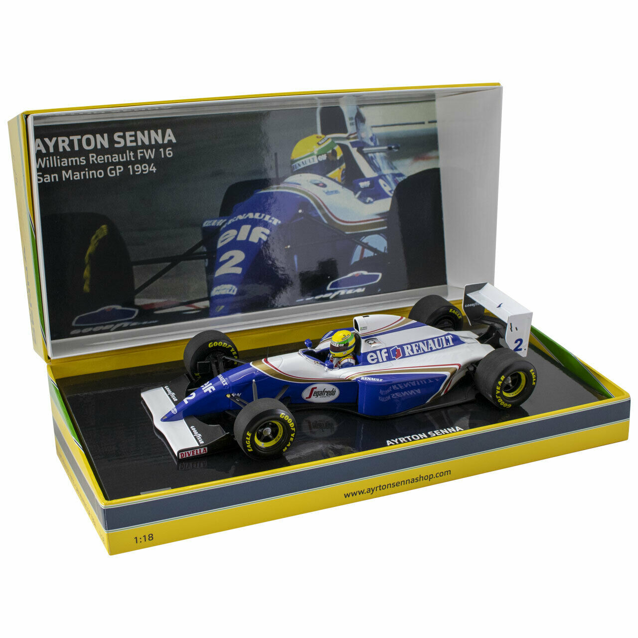 mejor calidad WILLIAMS RENAULT FW16 AYRTON SENNA F1 SAN MARINO IMOLA GP GP GP 1994 rojoHMANS 1 18 NEW  Entrega directa y rápida de fábrica