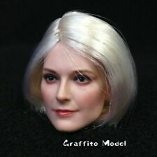 1//6 DSToys Accessory Action Figure Female Europe D008A Long Black Hair Head
