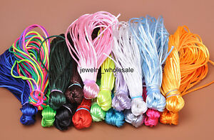 Wholesale-10m-50m-Nylon-Chinese-Knot-Satin-Beading-Jewelry-Rattail-Cords-2mm
