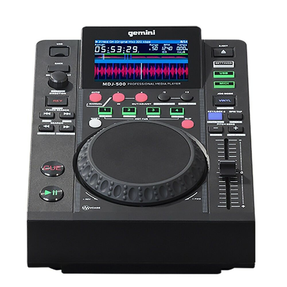 Gemini MDJ-500 Professional USB Media Player and MIDI Controller