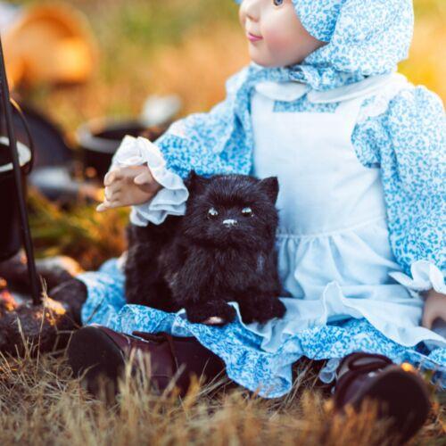 "My Twinn Doll Black Boots Glitter /& Fring Detail fits 23/"" Poseable Doll"