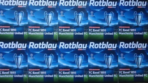 10 x off. programme UCL 201718 FC Basel vs Manchester United