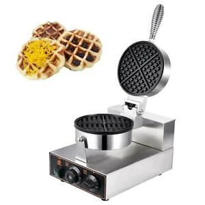 Waffle-Maker-Machine-Muffin-maker-Commercial-Nonstick-Electric-Steel-Round-110V