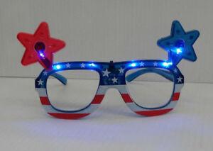 efeac971a6f USA American Flag - LED Flashing Light Up Party Shades Glasses - 1 ...