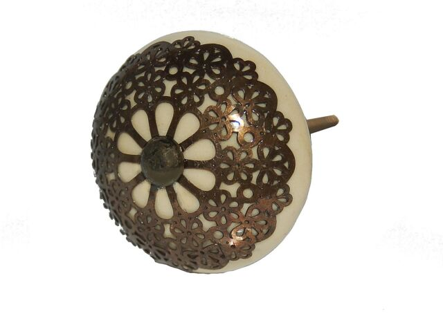 AS MANY* CERAMIC METAL SHABBY CHIC VINTAGE STYLE  4.5CM DOOR KNOBS/HANDLES/PULLS
