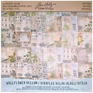 Tim-Holtz-Idea-ology-Paper-Stash-Vellum-Wallflower-18-Sheet-Pack-12-x-12-689
