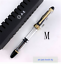 Wing Sung 699 Piston Filling Fountain Pen M Nib Transparent Black Solid Section