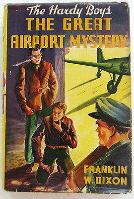 Hardy Boys #9 GREAT AIRPORT MYSTERY Franklin W Dixon Yellow Spine Dust Jacket