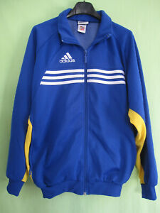 Détails sur Veste Adidas 90'S Bleu ciel et jaune Vintage Jacket Oldschool Tracksuit 162