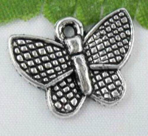 Wholesale 20//45Pcs Tibetan Silver(Lead-Free)Butterfly Charms Pendants 17x13mm
