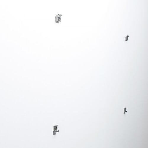 Wandbild Kunst-Druck auf Hart-Glas hochkant 70x100 Origami Vögel