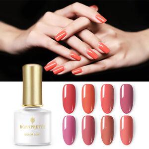 BORN-PRETTY-6ml-Nagel-Gellack-Gel-UV-Nagellack-Soak-Off-Nail-Art-Orange-Rot