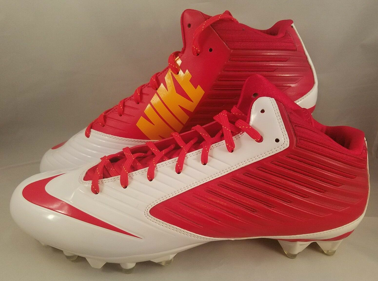 fed4f3c9f09f Nike Vapor Speed 3/4 TD Football Cleats Men's Size 15 Red White ...