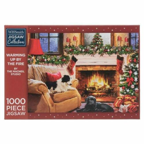 WHSmith Warming Up By The Fire 1000 piece Jigsaw Puzzle