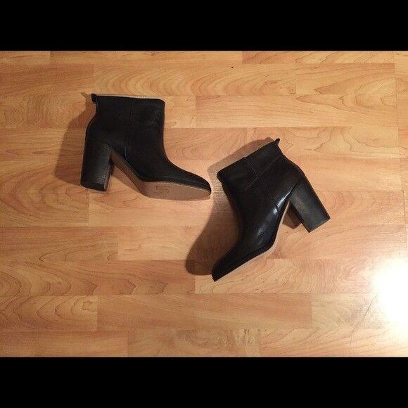 NWB Genuine Leather Black Bootie, Size 7