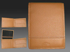 New Authentic LACOSTE LEATHER WALLET Palio 18 Tan