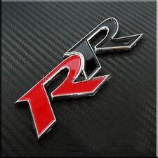 RR Red Black Sticker Chrome 3D Audi Racing Sticker Car Honda Civic CRV Punto