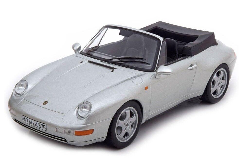Porsche 911 carrera cabriolet 1993 norev Silber 1,18