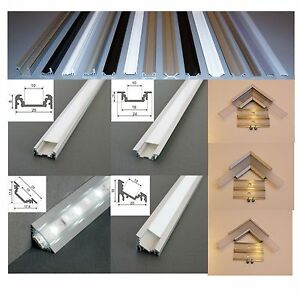 2 m alu profil aluminium schiene f r led strip s alu led profil f r led leisten ebay. Black Bedroom Furniture Sets. Home Design Ideas