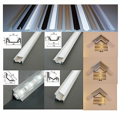 2 M  Alu Profil Aluminium Schiene für LED Strip s Alu LED Profil für LED Leisten