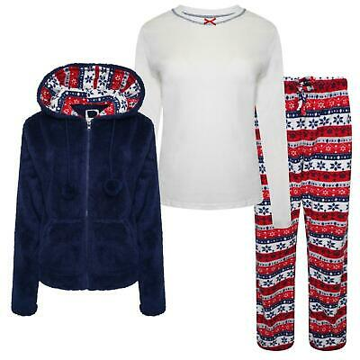 Ideal For Winter Sale £9.99 PJ/'s Ladies Supersoft Fleece Pyjama Set Nightwear