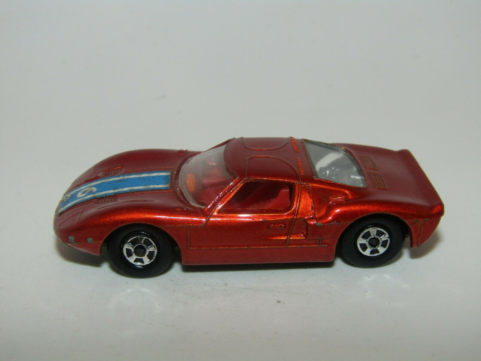 Matchbox Superfast No 41 Ford G.T. HIGH ARCHES Narrow Wheels Exc RARE Unboxed