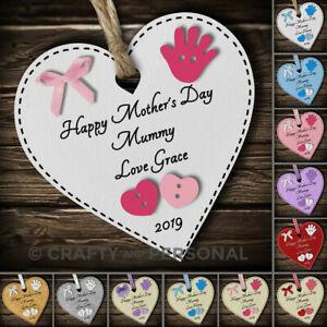 Personalizzata-Happy-Mothers-Giorno-Regalo-Cuore-PLACCA-RICORDO-PER-Mummia-Nonna