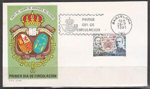 Charmant España Spain 2624 1981 Centenario Del Cuerpo De Abogados Del Estado Spd Sobre Pr