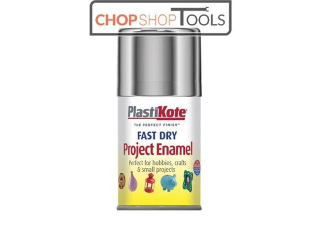 PlastiKote PKT150S Fast Dry Enamel Aerosol Chrome 100ml
