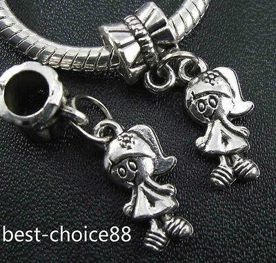 5PCS Tibetan Silver Charms Pendant Dangle Beads Fit European Bracelet 35 Style