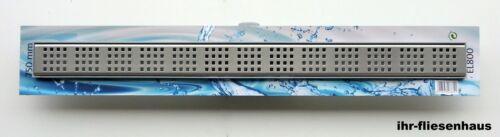 Edelstahlrost Set Dural ECO-LINE Duschrinne linear mit integriertem Bodenablauf